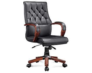 Купить кресло Норден Ботичелли черная экокожа, дерево