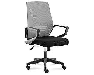 Купить кресло Норден Эрго black LB серая сетка,черная ткань,черный пластик