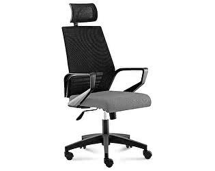 Купить кресло Норден Эрго black черная сетка,серая ткань, черный пластик