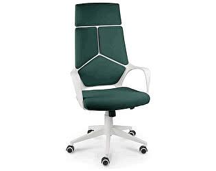 Купить кресло Норден IQ белый пластик/ т.зеленый ткань