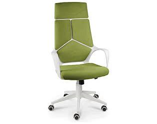 Купить кресло Норден IQ белый пластик/ зеленая ткань