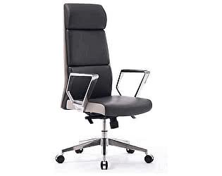 Купить кресло Норден Лондон ЛЮКС темно серая, светло серая (вставки) экокожа