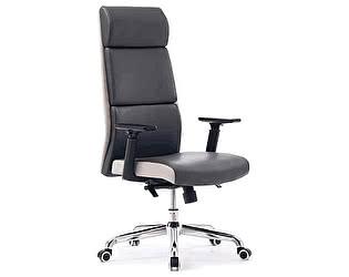 Купить кресло Норден Лондон темно серая, светло серая (вставки) экокожа