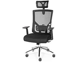 Купить кресло Норден Гарда черная ткань, черная сетка