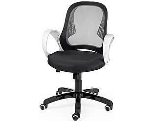 Купить кресло Норден Лайм белый пластик, черная сетка, черная ткань