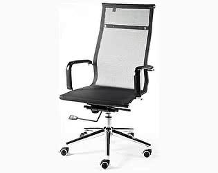Купить кресло Норден Хельмут сталь+хром, черная сетка