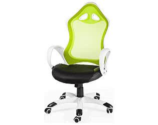 Купить кресло Норден Тесла белый пластик, зеленая спинка, черная сидушка