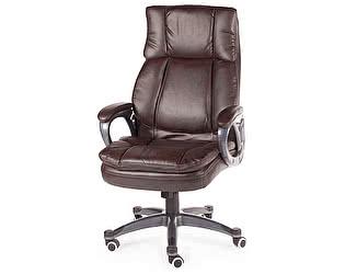 Купить кресло Норден Мэдисон серый пластик, темно-коричневая экокожа