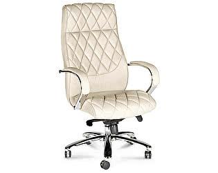 Купить кресло Норден Бонд сталь, хром, слоновая кость экокожа