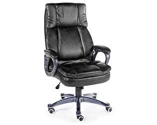 Купить кресло Норден Мэдисон (black) серый пластик, черная экокожа