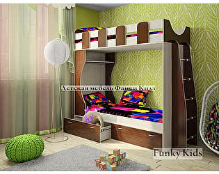 Купить кровать Фанки Кидз 5 двухъярусная