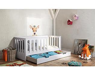 Купить кровать Фанки Кидз Домик Сказка ДС-10 без ящика (белый) низкая