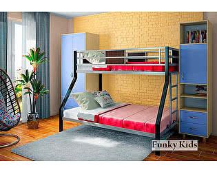 Купить кровать Фанки Кидз Лофт-2 двухъярусная