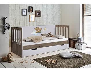 Купить кровать Фанки Кидз низкая Домик Сказка ДС-10 без ящика (цветная)