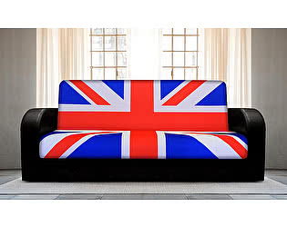 Диван-книжка Британский флаг 1 (боковины закругленные)