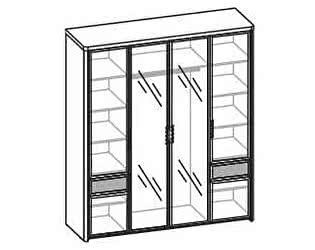 Купить шкаф Santan Камелия Matrix ШК-1107