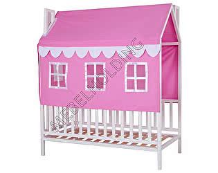 Купить кровать Мебель Холдинг Домовенок-3 (эмаль белая)