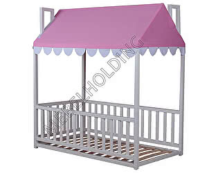 Купить кровать Мебель Холдинг Домовенок-4 (эмаль белая)