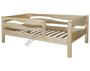 Купить кровать Мебель Холдинг Кроха Волна (эмаль белая)