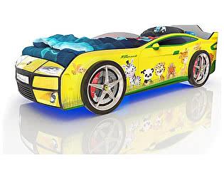 Купить кровать Romack Kiddy Желтая - Зверята