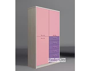 Купить шкаф Фанки Кидз с 2 дверьми и 6 ящиками Сити, ФС-07