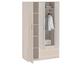 Шкаф 3-х дверный с ящиками 1510 с зеркалами Боровичи Лотос АРТ-8.032Z