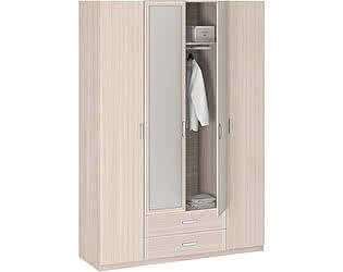 Шкаф 4-х дверный с зеркалом Боровичи Лотос АРТ-8.04Z