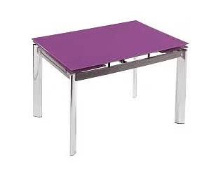 Стол стеклянный Cubo 100 фиолетовый