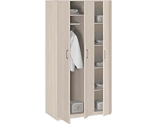 Шкаф 3-х дверный без зеркала Боровичи Лотос АРТ-8.03
