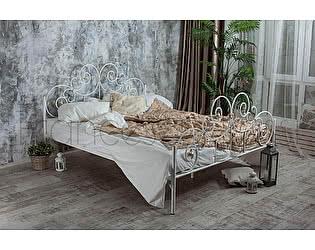 Кровать Francesco Rossi Афина 1,4 с двумя спинками цвет черный с серебром