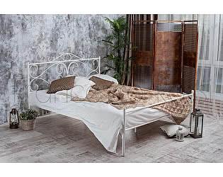 Кровать Francesco Rossi Валенсия 1,4 с одной спинкой цвет белый с золотом
