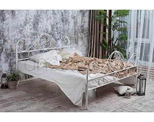 Кровать Francesco Rossi Венеция 1,6 с двумя спинками, цвет черный с серебром