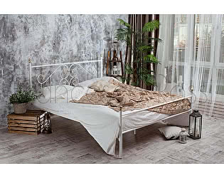 Кровать Francesco Rossi Камелия 1,4 с одной спинкой цвет черный с серебром