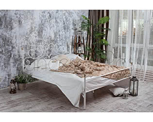 Кровать Francesco Rossi Кармен 1,6 с одной спинкой цвет черный с серебром