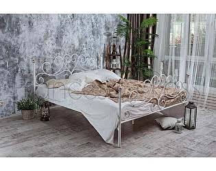 Кровать Francesco Rossi Кармен 1,6 с двумя спинками цвет черный с серебром