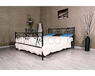 Кровать Francesco Rossi Лацио 1,6 с одной спинкой, цвет черный с золотом