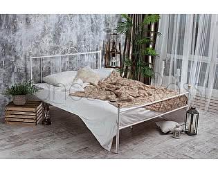 Кровать Francesco Rossi Оливия 1,4 с одной спинкой, цвет черный с серебром