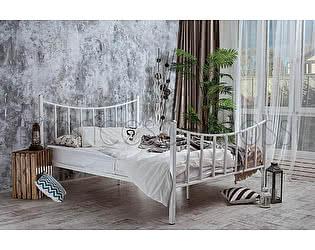 Кровать Francesco Rossi Ринальди 1,4 с двумя спинками, цвет белый с золотом