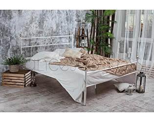 Кровать Francesco Rossi Сандра 1,4 с одной спинкой, цвет черный с серебром