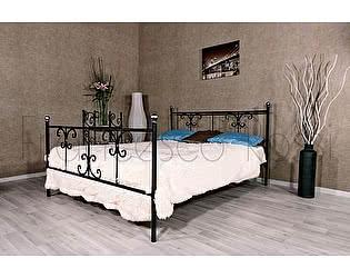 Кровать Francesco Rossi Симона 1,4 с двумя спинками, цвет черный с серебром