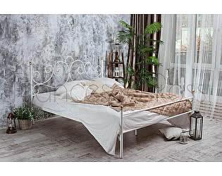 Кровать Francesco Rossi Флоренция 1,4 с одной спинкой, цвет черный с серебром