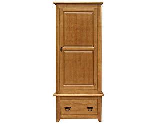 Шкаф 1 створчатый Woodmos Юта P брашированный массив сосны