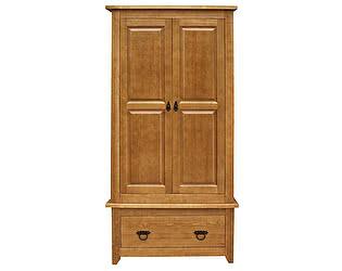 Шкаф 2х створчатый Woodmos Юта VP брашированный массив сосны