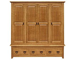 Шкаф 4х створчатый Woodmos Юта PVVP брашированный массив сосны