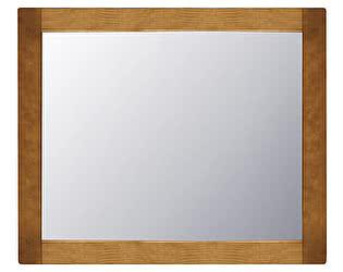 Зеркало навесное Woodmos Юта 1 брашированное массив сосны  90*75(НОВИНКА)