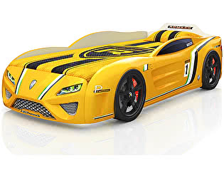 Кровать-машинка Romack SportLine Желтая