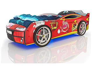 Кровать-машинка Romack Kiddy Красный бум