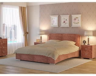 Кровать Nuvola 4 (1 подушка) ткань бентлей