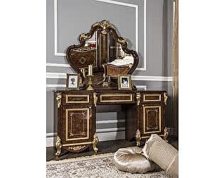 Туалетный стол Юг-мебель Оливия с пуфиком и зеркалом