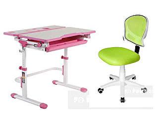Комплект FunDesk Lavoro L pink + LST6 green